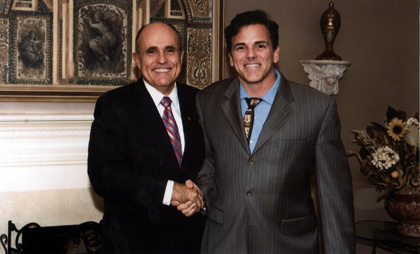 Dr. John Salerno with Rudy Giuliani