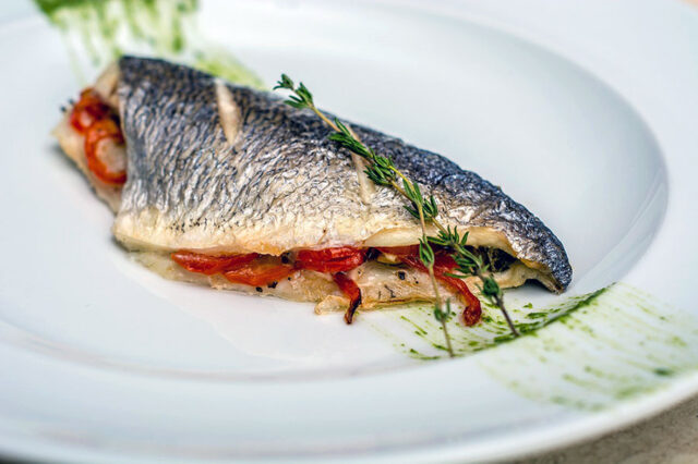 Branzino with Walnut Puree Recipe